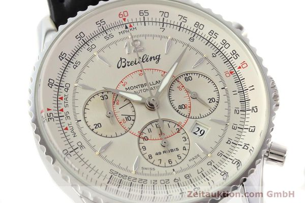 Used luxury watch Breitling Montbrillant chronograph steel automatic Kal. B41 ETA 2892A2 Ref. A41030  | 141415 02