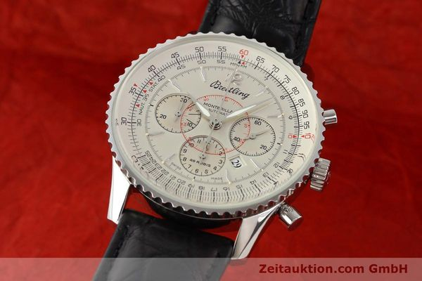 Used luxury watch Breitling Montbrillant chronograph steel automatic Kal. B41 ETA 2892A2 Ref. A41030  | 141415 04