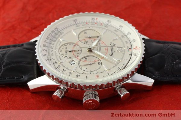 Used luxury watch Breitling Montbrillant chronograph steel automatic Kal. B41 ETA 2892A2 Ref. A41030  | 141415 05