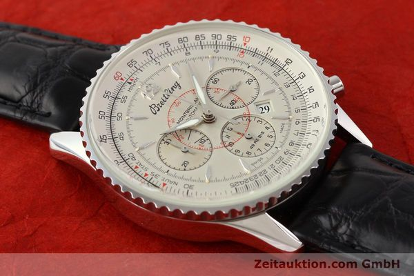 Used luxury watch Breitling Montbrillant chronograph steel automatic Kal. B41 ETA 2892A2 Ref. A41030  | 141415 12
