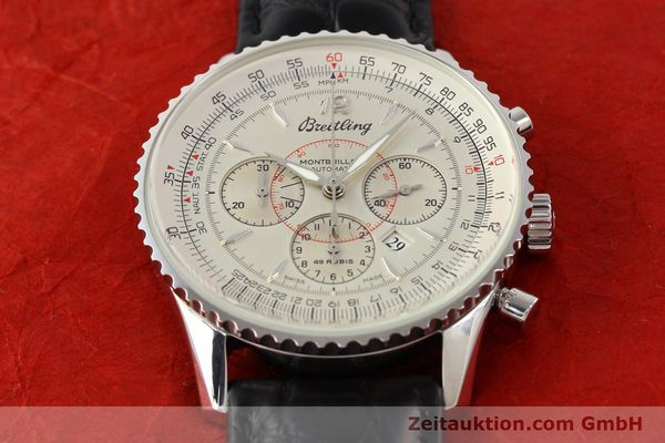 Used luxury watch Breitling Montbrillant chronograph steel automatic Kal. B41 ETA 2892A2 Ref. A41030  | 141415 13