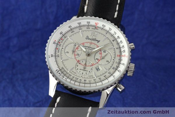 Used luxury watch Breitling Montbrillant chronograph steel automatic Kal. B41 ETA 2892A2 Ref. A41030  | 141416 04