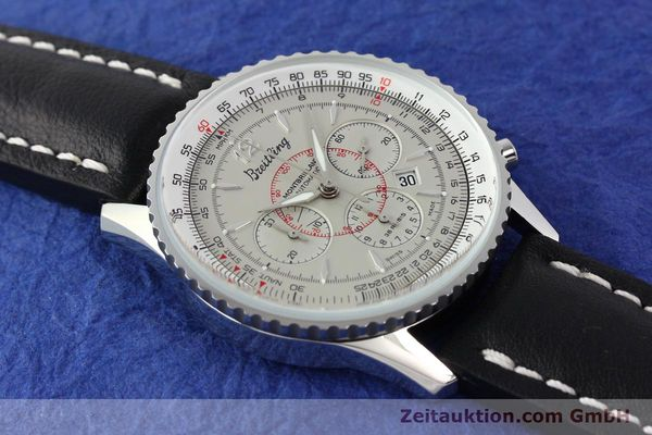Used luxury watch Breitling Montbrillant chronograph steel automatic Kal. B41 ETA 2892A2 Ref. A41030  | 141416 13
