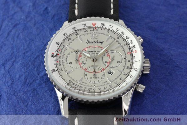 Used luxury watch Breitling Montbrillant chronograph steel automatic Kal. B41 ETA 2892A2 Ref. A41030  | 141416 14