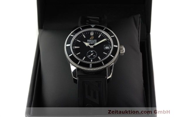 Used luxury watch Breitling Superocean steel automatic Kal. B37 ETA 2895-2 Ref. A37320  | 141418 07