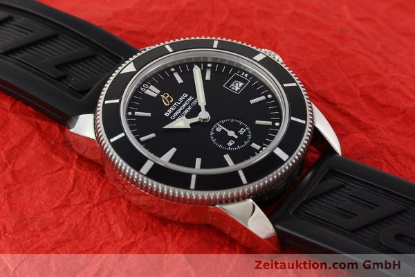 Used luxury watch Breitling Superocean steel automatic Kal. B37 ETA 2895-2 Ref. A37320  | 141418 15