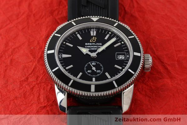Used luxury watch Breitling Superocean steel automatic Kal. B37 ETA 2895-2 Ref. A37320  | 141418 16