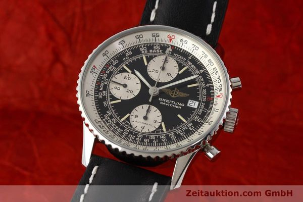 Used luxury watch Breitling Navitimer chronograph steel automatic Kal. B13 ETA 7750 Ref. A13019  | 141422 04