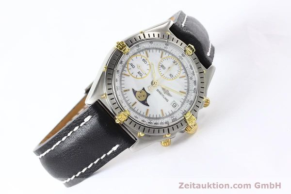 Used luxury watch Breitling Chronomat chronograph gilt steel automatic Kal. VAL 7750 Ref. 81.950  | 141424 03