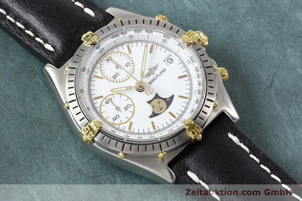 Used luxury watch Breitling Chronomat chronograph gilt steel automatic Kal. VAL 7750 Ref. 81.950  | 141424 14
