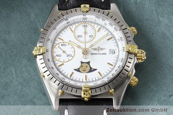 Used luxury watch Breitling Chronomat chronograph gilt steel automatic Kal. VAL 7750 Ref. 81.950  | 141424 15