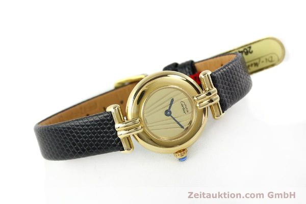 Used luxury watch Cartier Vermeil silver-gilt quartz Kal. 90  | 141425 03