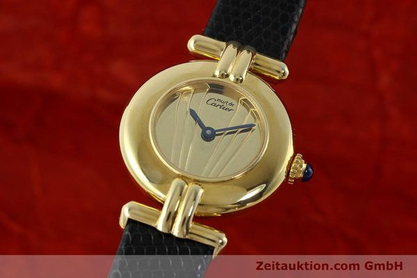 Used luxury watch Cartier Vermeil silver-gilt quartz Kal. 90  | 141425 04