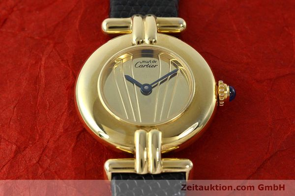 Used luxury watch Cartier Vermeil silver-gilt quartz Kal. 90  | 141425 11