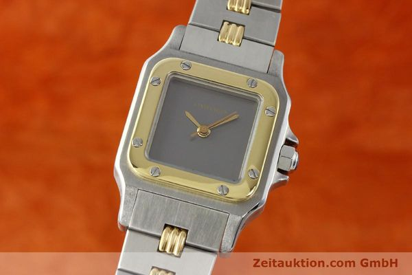 Used luxury watch Cartier Santos steel / gold automatic  | 141427 04