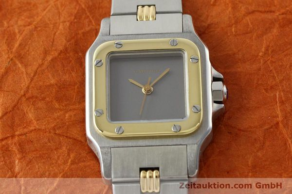 Used luxury watch Cartier Santos steel / gold automatic  | 141427 15