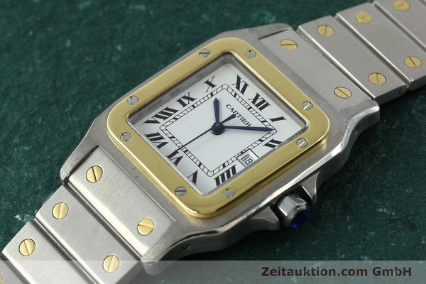 Used luxury watch Cartier Santos steel / gold automatic  | 141428 01
