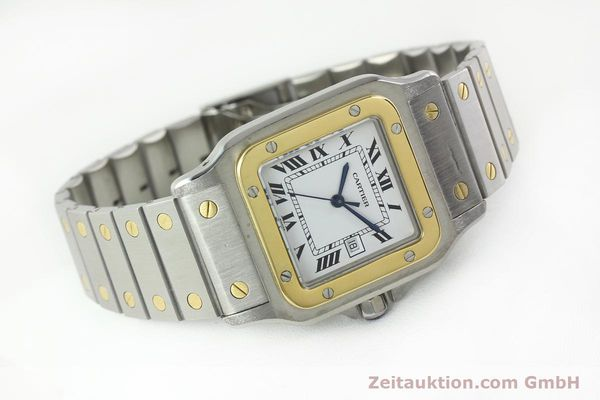 Used luxury watch Cartier Santos steel / gold automatic  | 141428 03