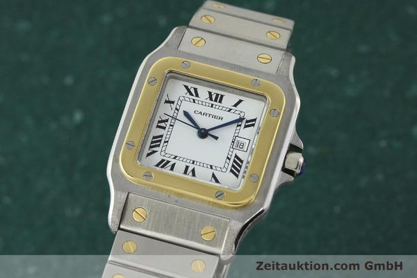 Used luxury watch Cartier Santos steel / gold automatic  | 141428 04