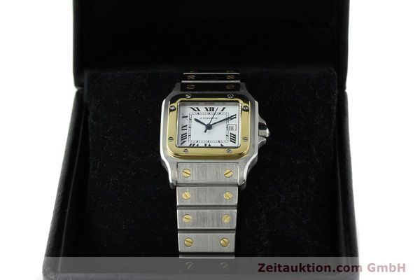 Used luxury watch Cartier Santos steel / gold automatic  | 141428 07