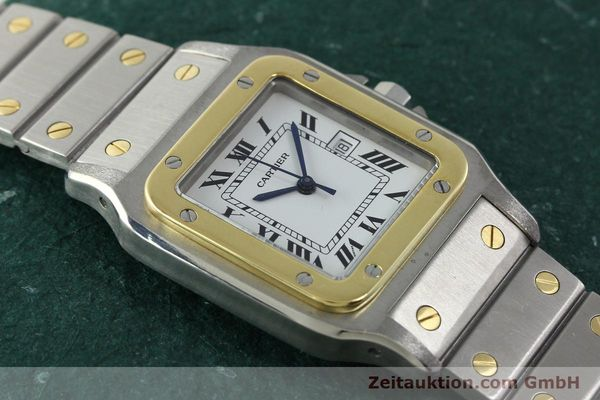 Used luxury watch Cartier Santos steel / gold automatic  | 141428 12