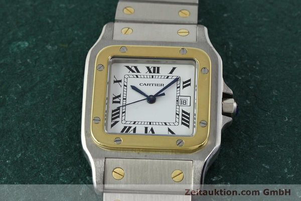 Used luxury watch Cartier Santos steel / gold automatic  | 141428 13