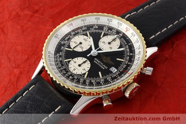 Used luxury watch Breitling Navitimer chronograph gilt steel automatic Kal. VAL 7750 Ref. 81610  | 141434 01