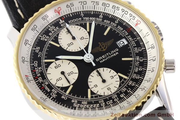 Used luxury watch Breitling Navitimer chronograph gilt steel automatic Kal. VAL 7750 Ref. 81610  | 141434 02