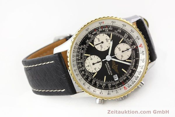 Used luxury watch Breitling Navitimer chronograph gilt steel automatic Kal. VAL 7750 Ref. 81610  | 141434 03