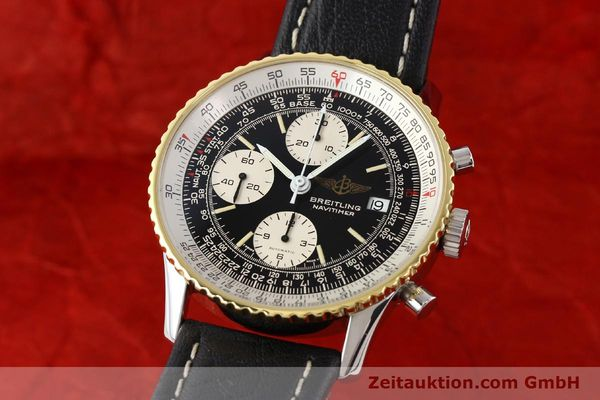 Used luxury watch Breitling Navitimer chronograph gilt steel automatic Kal. VAL 7750 Ref. 81610  | 141434 04