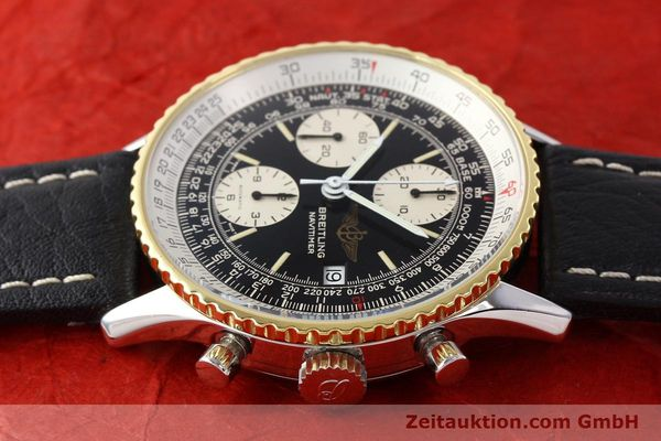 Used luxury watch Breitling Navitimer chronograph gilt steel automatic Kal. VAL 7750 Ref. 81610  | 141434 05