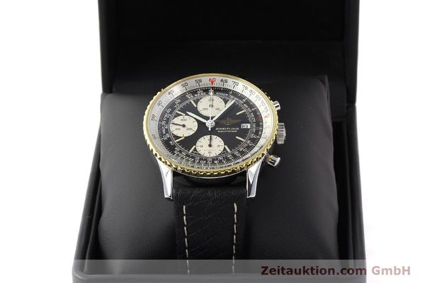 Used luxury watch Breitling Navitimer chronograph gilt steel automatic Kal. VAL 7750 Ref. 81610  | 141434 07