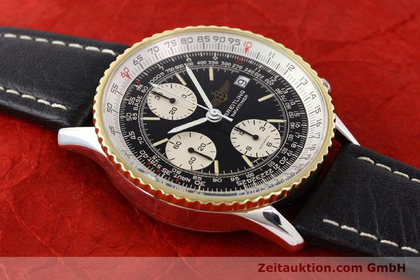 Used luxury watch Breitling Navitimer chronograph gilt steel automatic Kal. VAL 7750 Ref. 81610  | 141434 13