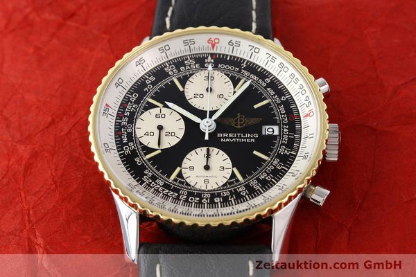 Used luxury watch Breitling Navitimer chronograph gilt steel automatic Kal. VAL 7750 Ref. 81610  | 141434 14