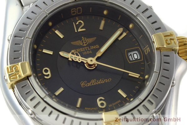 Used luxury watch Breitling Callistino gilt steel quartz Kal. B52 Ref. B52045.1  | 141437 02