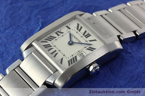 Used luxury watch Cartier Tank Francaise steel quartz Kal. 175N  | 141439 01