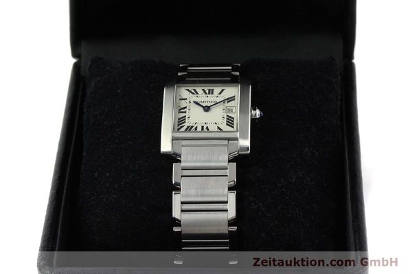 Used luxury watch Cartier Tank Francaise steel quartz Kal. 175N  | 141439 07