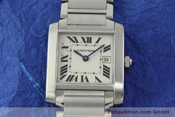 Used luxury watch Cartier Tank Francaise steel quartz Kal. 175N  | 141439 14