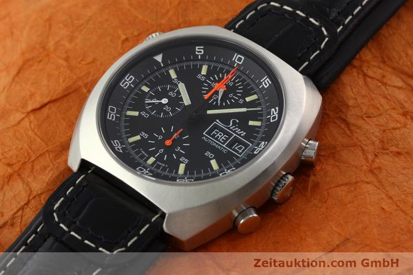 Used luxury watch Sinn D1 Mission chronograph steel automatic Kal. LWO 5100  | 141442 01