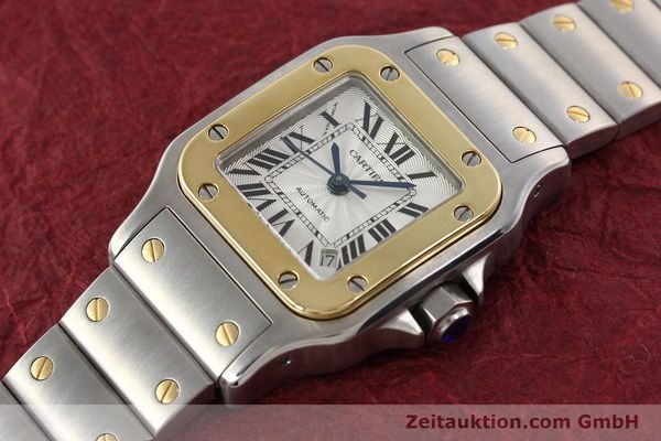 Used luxury watch Cartier Santos gilt steel automatic  | 141448 01