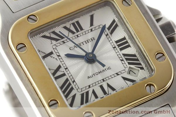 Used luxury watch Cartier Santos gilt steel automatic  | 141448 02