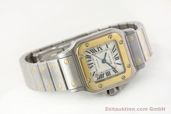 Used luxury watch Cartier Santos gilt steel automatic  | 141448 03