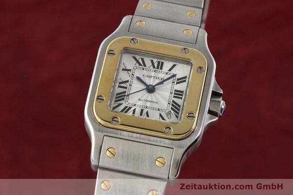 Used luxury watch Cartier Santos gilt steel automatic  | 141448 04
