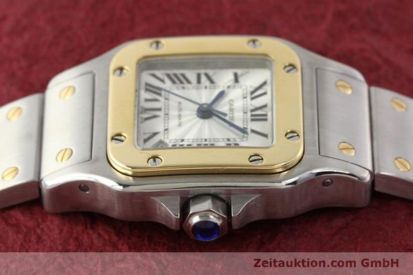 Used luxury watch Cartier Santos gilt steel automatic  | 141448 05
