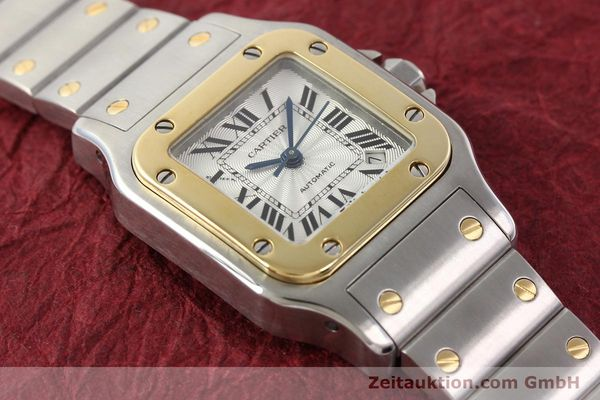 Used luxury watch Cartier Santos gilt steel automatic  | 141448 15