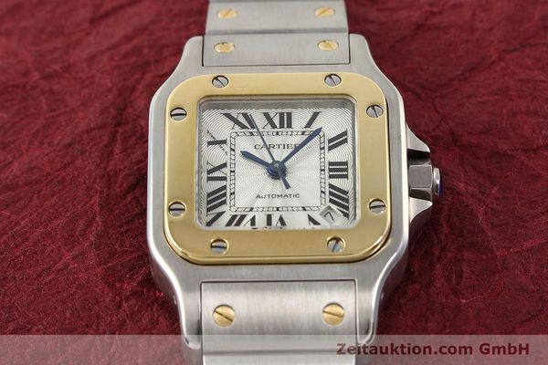 Used luxury watch Cartier Santos gilt steel automatic  | 141448 16