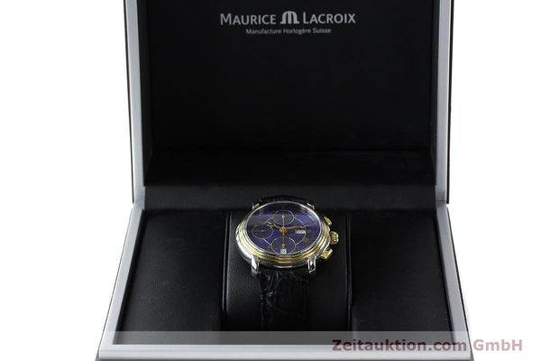 Used luxury watch Maurice Lacroix Masterpiece chronograph steel / gold automatic Kal. ETA 7750 Ref. 67413  | 141449 07