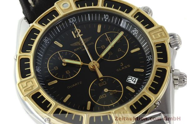 Used luxury watch Breitling J-Class chronograph steel / gold quartz Kal. B53 ETA 251262 Ref. 80290D53067  | 141455 02