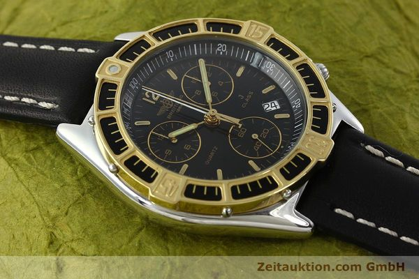 Used luxury watch Breitling J-Class chronograph steel / gold quartz Kal. B53 ETA 251262 Ref. 80290D53067  | 141455 12