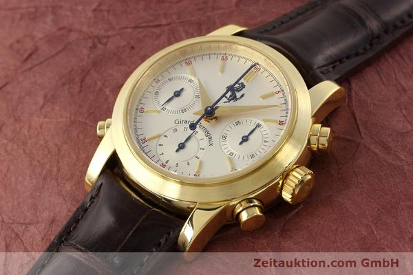 Used luxury watch Girard Perregaux Ferrari chronograph 18 ct gold automatic Kal. 8290 Ref. 9015  | 141461 01